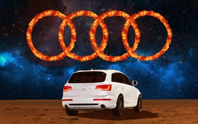 Picture space, Audi, audi, space, logo, mars