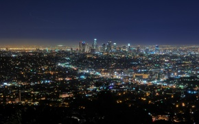 Picture night, lights, california, CA, night, usa, los angeles, downtown, southern california