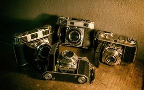 Picture vintage, cameras, old