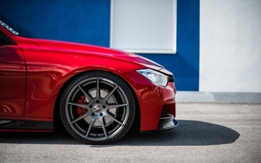 Picture BMW, BMW, Red, F30, Side, Kasna