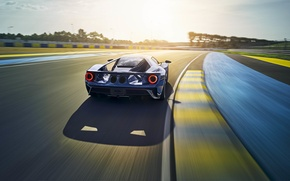 Picture car, auto, Ford, rear view, speed, track