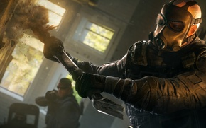 Picture hammer, gas mask, fighter, sledge, Rainbow six: Siege