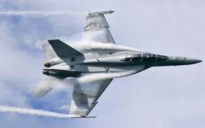 Wallpaper Boeing F/A-18E/F, Boeing, Super Hornet, F/A-18E/F, the plane, fighter, Super Hornet, flight, the sky