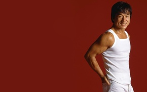 Picture actor, male, red background, Director, martial arts, producer, Jackie Chan, stuntman