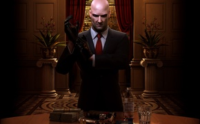 Picture gun, Costume, Gloves, Hitman, Blood Money, Blood money, Tie, Agent 47, IO Interactive
