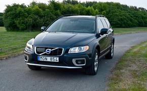 Picture road, auto, forest, Volvo