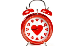 Picture photo, Heart, Watch, Valentine's day, Alarm clock, Holidays