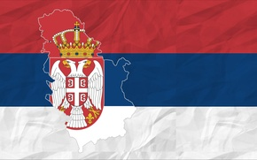 Picture red, white, blue, Flag, Serbia
