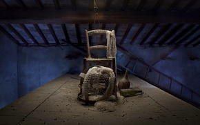 Picture network, chair, attic