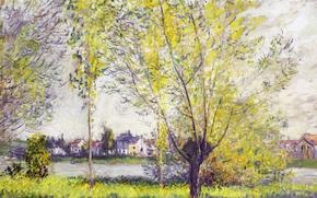 Picture landscape, nature, picture, Claude Monet, Willow