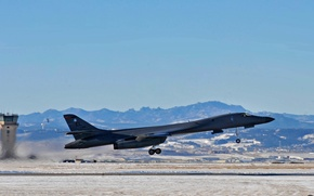 Picture Lancer, bomber, the airfield, the rise, B-1B, strategic, supersonic