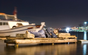 Picture stone, sleep, the situation, boats, harbour
