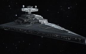 Picture space, stars, Star Wars, Star wars, Star Destroyer, Imperial star destroyer