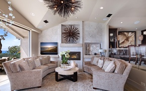 Picture design, sofa, Villa, Design, Orchid, living room, Interior, Living