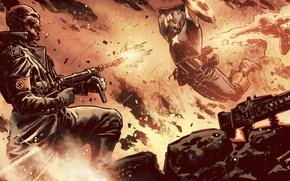Picture marvel, comics, captain america, captain America, hero