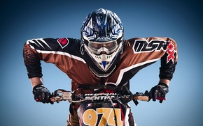 Picture motorcycle, pilot, motocross, extreme sports