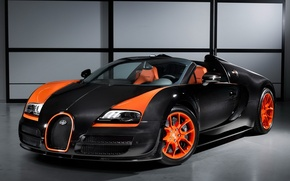 Picture Roadster, Bugatti, Veyron, supercar, the front, walls, Grand Sport, Vitesse, WRC Edition