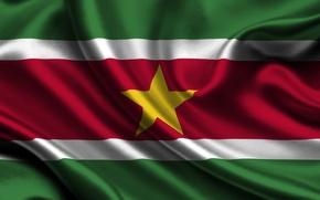 Picture Flag, Suriname, Suriname