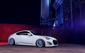 Picture white, coupe, white, hyundai, Hyundai, vossen, genesis, Genesis
