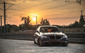 Picture Sunset, BMW, Tuning, BMW, Railroad, Drives, E90, Deep Concave