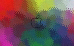Picture Apple, Color, Textures, Ripple