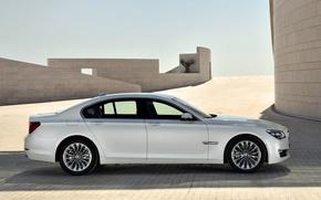 Picture Auto, White, BMW, Machine, Boomer, BMW, Day, Sedan, 7 Series, Side view