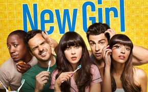 Picture background, the series, actors, Movies, New, New Girl
