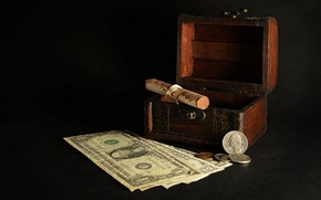Picture background, money, box