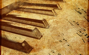 Picture music, Notes, piano, texture