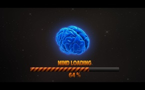 Picture space, loading, brain, mind, percentages
