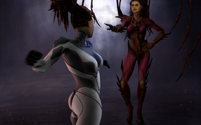 Picture game, photoshop, art, kerrigan, Starcraft, art, fan, photoshop, StarCraft, digital art, fan art, fan-art, The ...