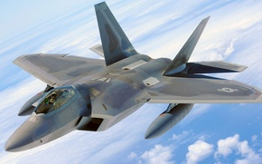 Picture F-22, Raptor, Lockheed/Boeing, multi-role fighter, fifth generation