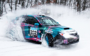 Picture Winter, Subaru, Impreza, Snow, Machine, Skid, Drift, Rally, Rally