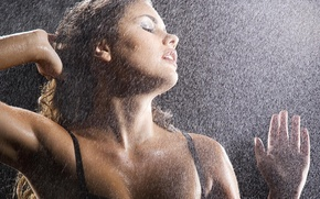Picture girl, droplets, model, wet, sexuality, feeling, model