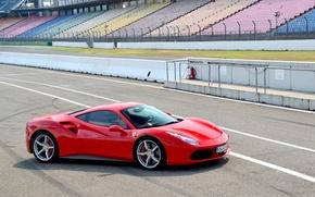 Picture Ferrari, Red, GTB, 488