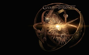 Picture metal, crow, lion, wolf, dragon, A Song of Ice and Fire, Game of Thrones, Winterfell, ...