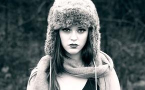 Picture hat, portrait, fur, Imogen, winter style