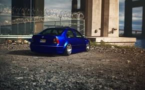 Picture blue, tuning, volkswagen, blue, Volkswagen, jetta, MK4, Jetta