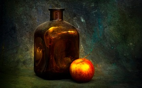 Picture background, bottle, Apple, Dimple