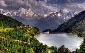 Wallpaper nature, trees, forests, lake, lake, trees, mountains, landscape, forest