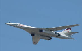 Wallpaper The sky, Photo, Flight, Height, Tupolev, Supersonic, Strategic, Bomber bomber, The Tu-160