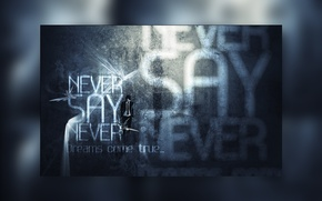 Wallpaper photoshop, never say never, never speak never