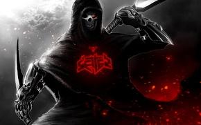 Picture dark, skull, dagger, assassin