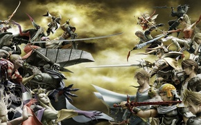 Picture the opposition, Final Fantasy, fighting game, PlayStation, Dissidia