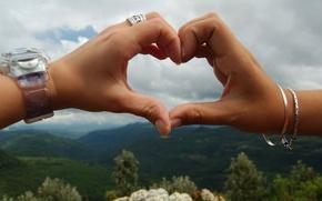 Wallpaper hands, heart