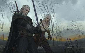 Picture geralt, The Witcher 3: Wild Hunt, geralt of rivia, ciri, cirilla