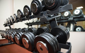 Picture Fitness, Gym, Dumbells