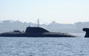 Picture sea, submarine, Russia, submarine