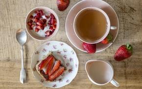 Picture tea, Breakfast, strawberry