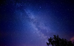 Picture stars, night, the milky way